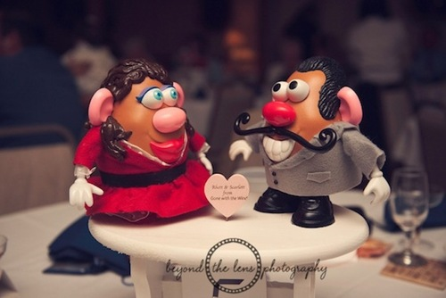 Mr And Mrs Potato Head Wedding Cake Topper